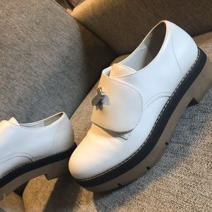 alexander Wang leather white shoes